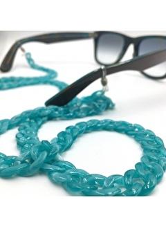 Happy Accessories Su Yeşili Sedefli Akrilik Gözlük Zinciri